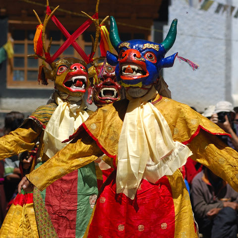 Traditionelles Hemis-Tsechu-Festival in Leh, Indien