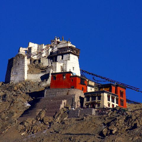 Altes Kloster im Himalaya bei Leh, Indien
