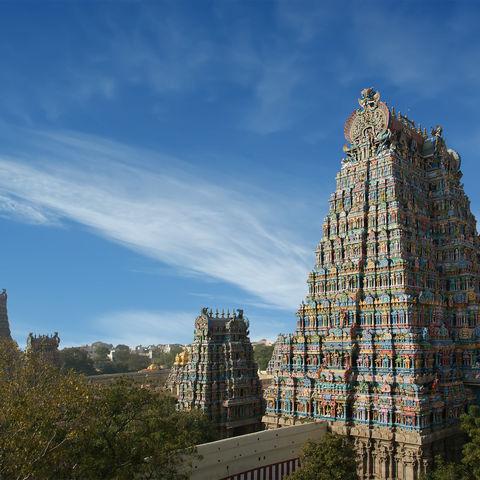 Meenakshi-Hindu-Tempel in Madurai, Indien