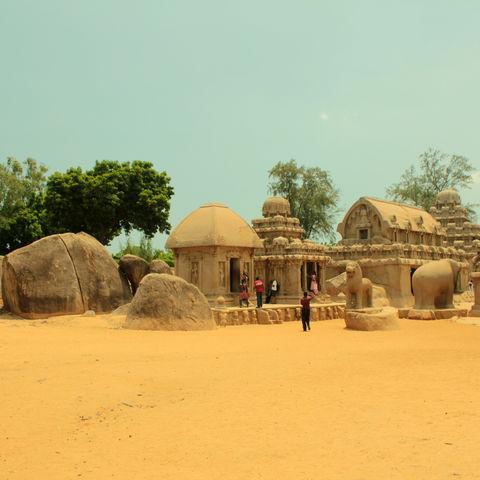 Rathas von Mahabalipuram, Indien