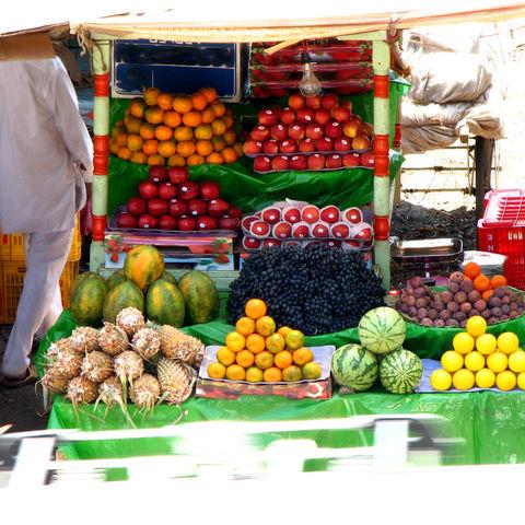 Früchte auf dem Markt, Indien