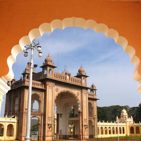 Palast in Mysore, Indien