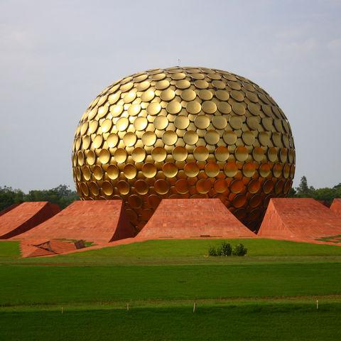 Matrimandir von Auroville, Indien