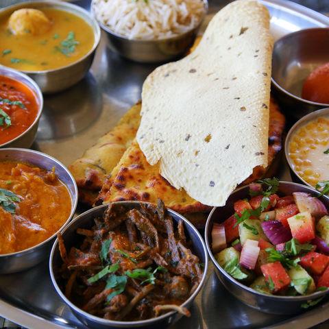 Typisch indische Mahlzeit, Indien