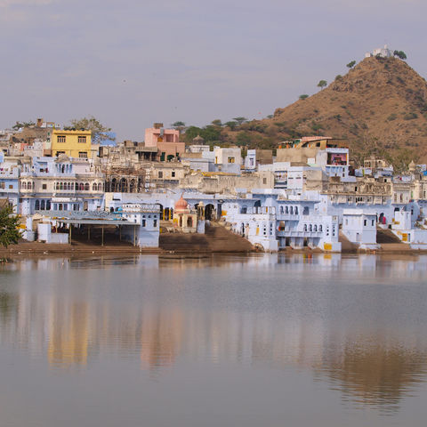 Heiliger See in Pushkar, Indien