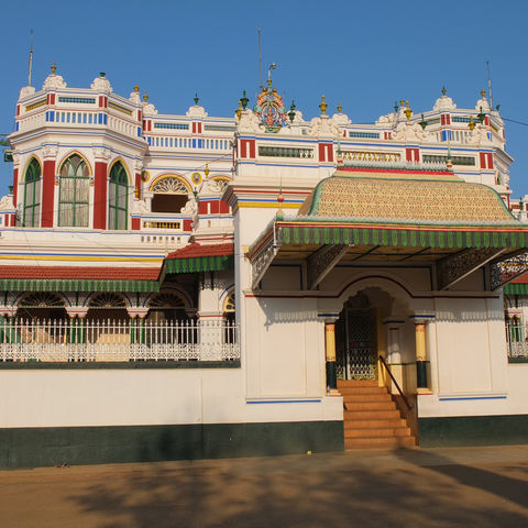 Chettinad Palast in Tamil Nadu, Indien