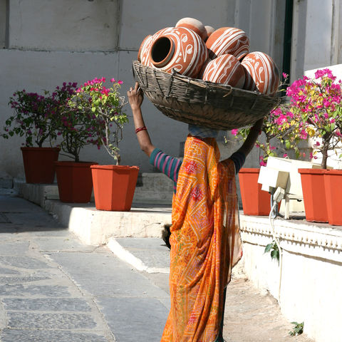Auf den Wegen von Udaipur, Indien
