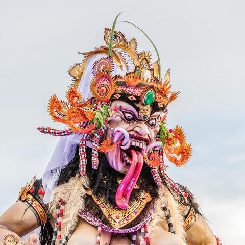 Rangda-Statue, Indonesien