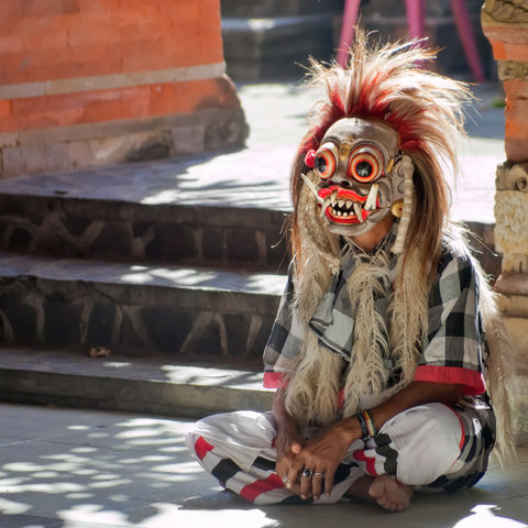 Traditionelle Rangda Maske, Indonesien