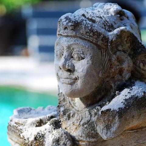 Alte Steinfigur, Indonesien
