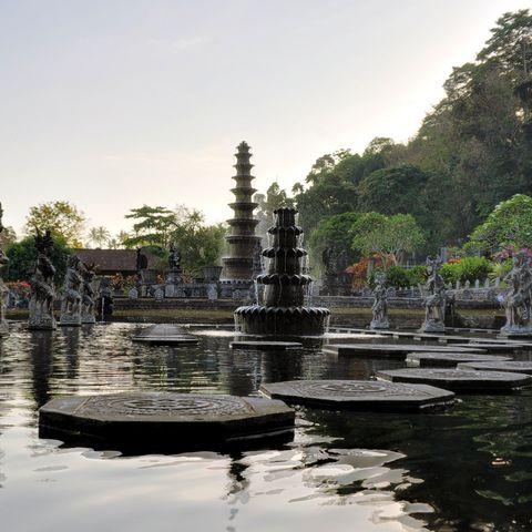 Wasserterassen von Tirta Gangga auf Bali, Indonesien