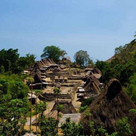 Blick auf das Ngada Dorf Bena, Indonesien