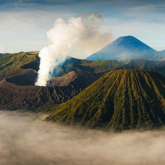 Panorama des Bromo Vulkan, Indonesien