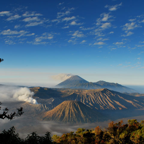 Beeidruckende Landschaft des Mount Bromo Vulkans, Indonesien