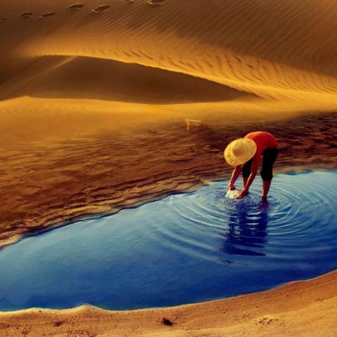 Oase in der Wüste, Yogyakarta, Indonesien