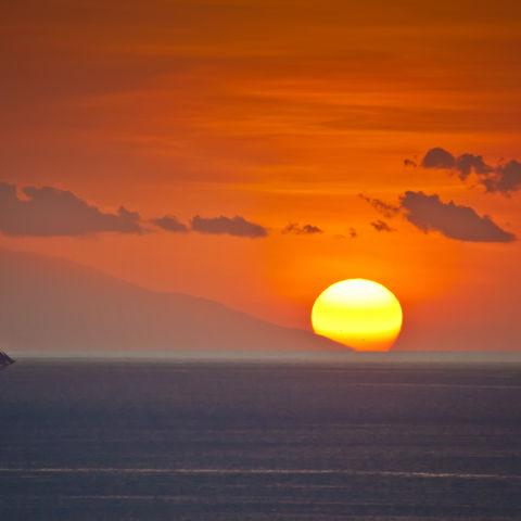 Sonnenuntergang in Labuan Bajo, Indonesien