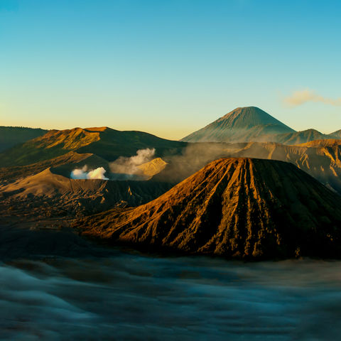 Sonnenaufgang am Mount Bromo, Indonesien