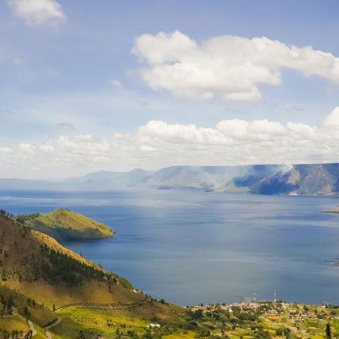 Der See-Toba im Norden von Sumatra, Indonesien