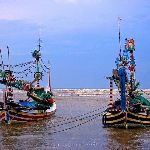 Traditionelle Fischerboote, Indonesien