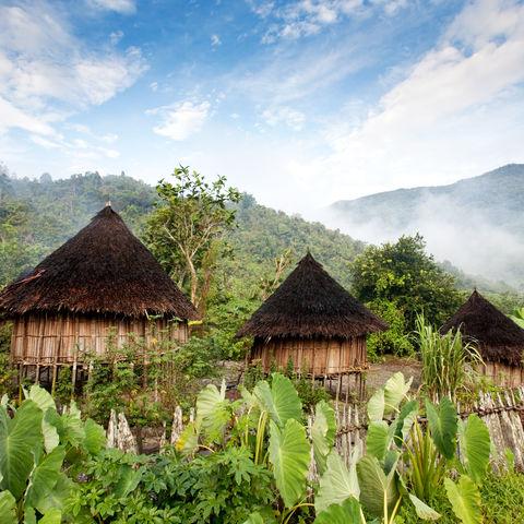 Traditionelle Hütten, Indonesien
