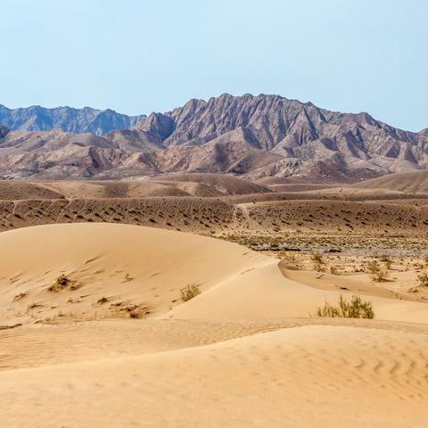 Sanddünen in der Dasht-e Kavir Wüste, Iran
