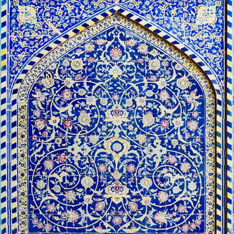 Orientalische Ornamente der Isfahan-Moschee, Iran