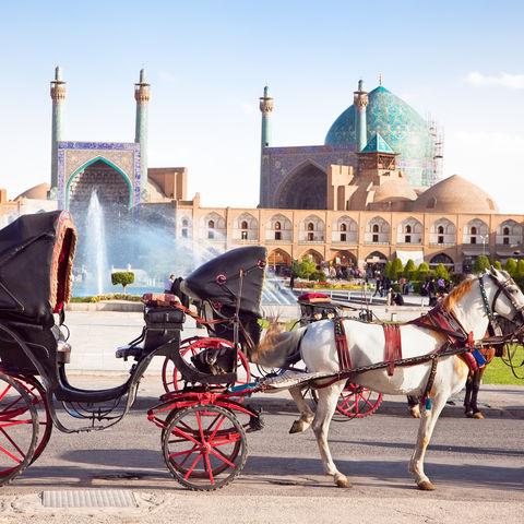 Pferdekutsche auf dem Meidan-e Imam in Isfahan, Iran