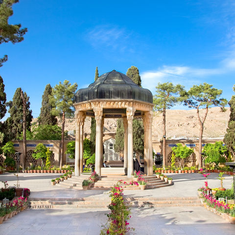 Grabstätte Aramgah-e Hafez in Shiraz, Iran