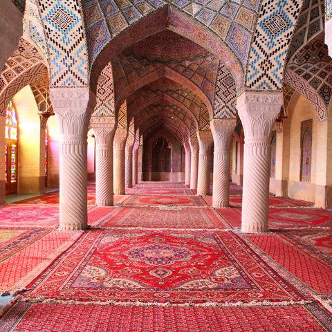 Nasir al-Mulk Moschee von innen, Shiraz, Iran