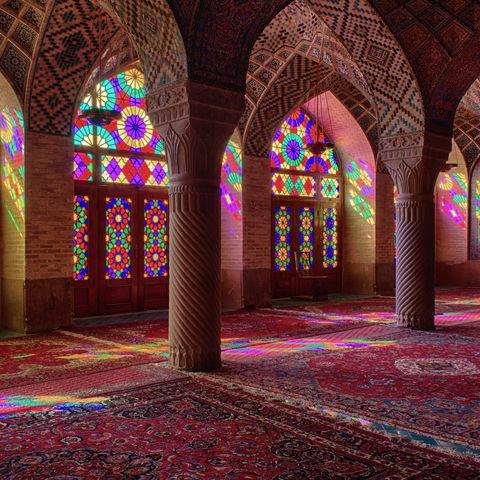 Nasir-ol Molk Moschee in Shiraz von innen, Iran