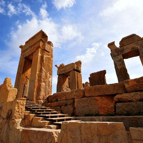 Die Ruinen von Persepolis in Shiraz, Iran