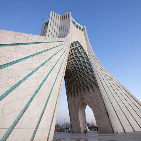 Der Freiheitsturm auf dem Azadi-Platz in Teheran, Iran
