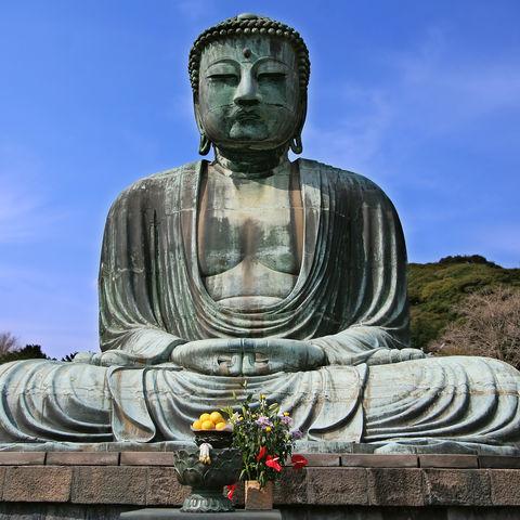 Der Große Buddha, Daibutsu, in Kamakura, Japan