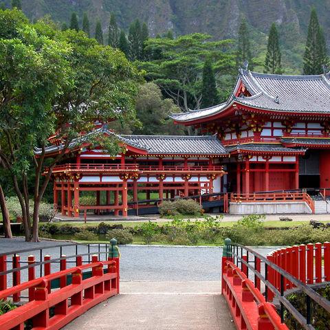 Der Tempel Byodo-in in Uji, Kyoto, Japan
