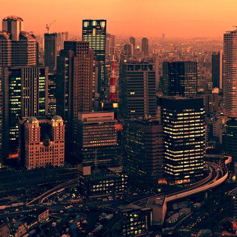 Blick vom Umeda Sky Building auf Osaka, Japan