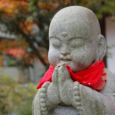 Statue des buddhistischen Schutzgottes verstorbener Kinder, Japan