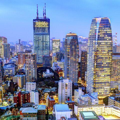 Skyline von Tokio, Japan