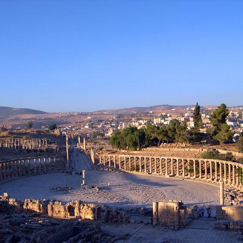 Römische Ruinen in Jerash, Jordanien