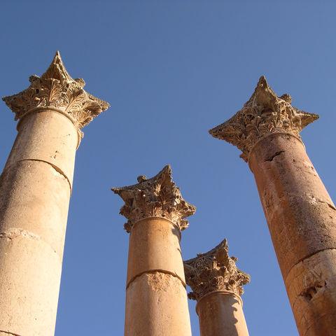 Stadt der Tausend Säulen: Jerash, Jordanien