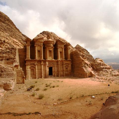 Kloster in Petra, Jordanien
