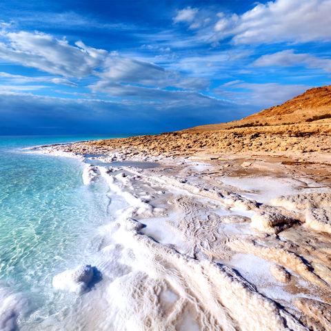Traumhafte Kulisse am Toten Meer, Jordanien