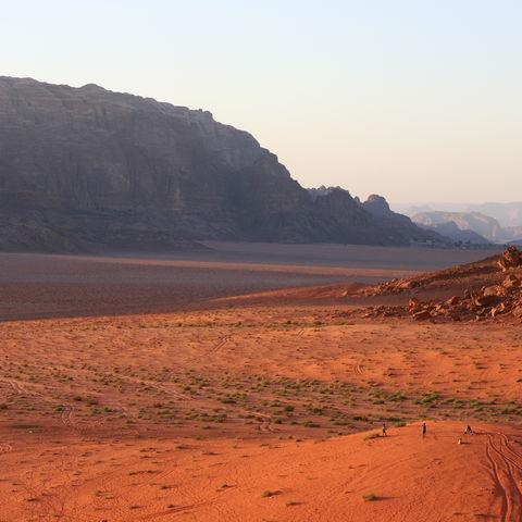 Der rote Sand in Wadi Rum, Jordanien
