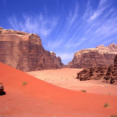 Die Wüste des Wadi Rum, Jordanien