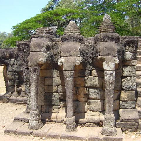 Elefantenterrasse in Angkor, Kambodscha
