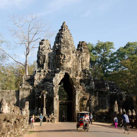 Eingang von Angkor Thom, Kambodscha