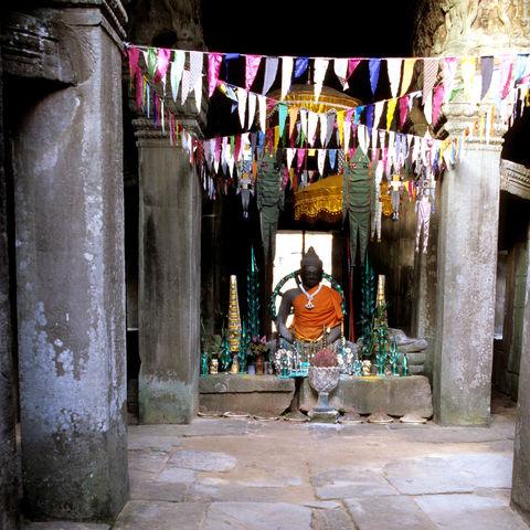 Ein Schrein in den Angkor Wat Ruinen, Kambodscha