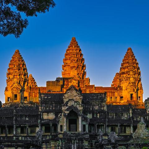 Angkor Wat zum Sonnenaufgang, Siem Reap, Kambodscha