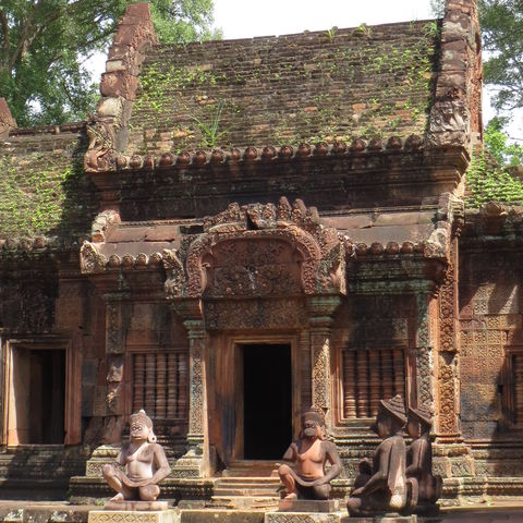 Teile de Tempels Banteay Srei, Kambodscha