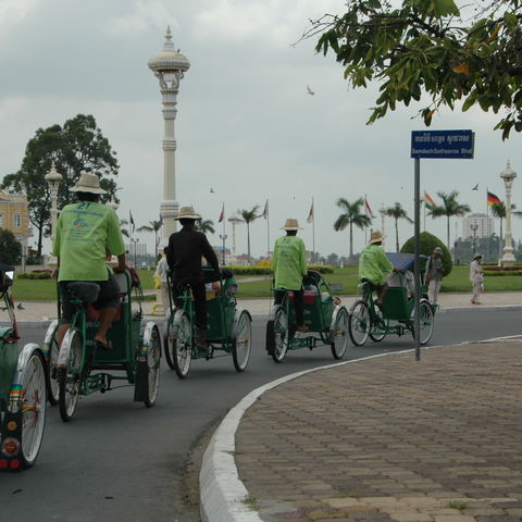 Kambodschanische Fahrradrikschafahrer, Kambodscha