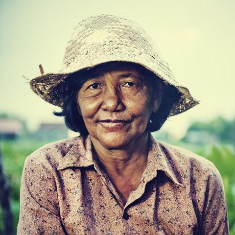 Portrait einer Farmerin, Kambodscha